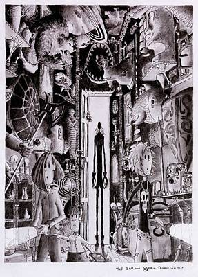 Haunted Mansion Drawing - The Baron by Eric Jason Jones