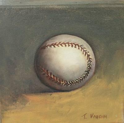 The Baseball Art Print by Teri Vaughn