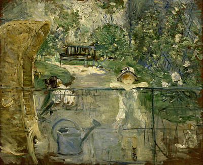The Basket Chair Art Print by Berthe Morisot