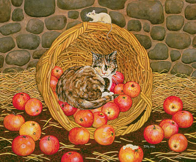 The Basket Mouse Art Print by Ditz