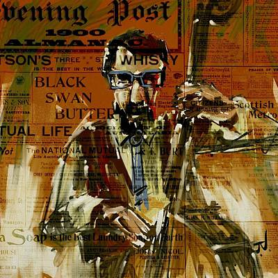 Digital Art - The Bass Player by Jim Vance