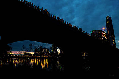 Haunted Houses Photograph - The Bat Bridge Austin Texas by Betsy Knapp