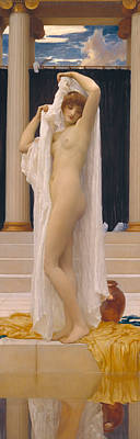 Psyche Painting - The Bath Of Psyche by Frederic Leighton