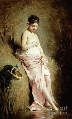 Basket Painting - The Bather by Charles Joshua Chaplin