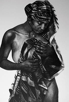 African-american Drawing - The Bather by Curtis James