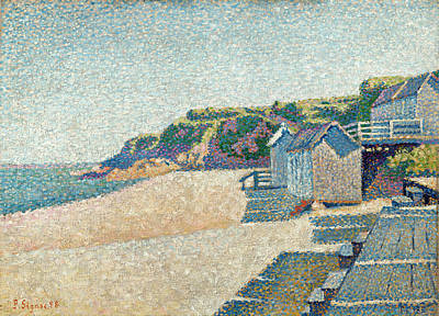 Beach Cabin Painting - The Bathing Cabins, Opus 185 by Paul Signac