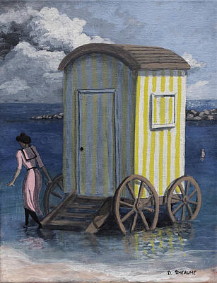 Painting - The Bathing Machine by Dave Rheaume
