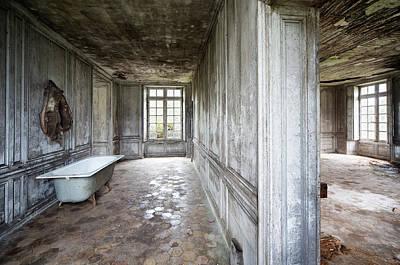 The Bathroom Next Door - Urban Exploration Art Print by Dirk Ercken