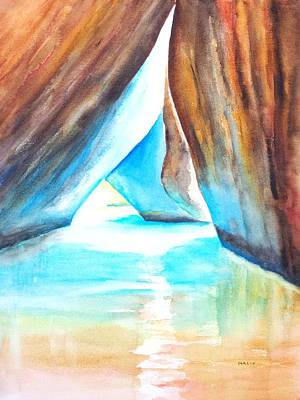 Painting - The Baths Light by Carlin Blahnik CarlinArtWatercolor