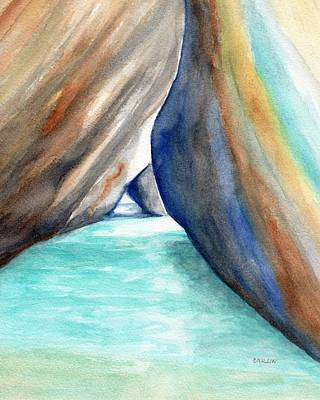 Painting - The Baths Turquoise 2 by Carlin Blahnik CarlinArtWatercolor
