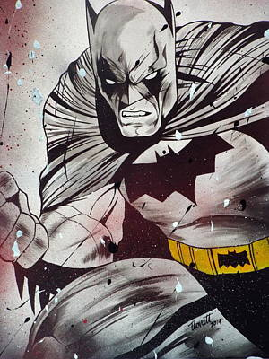The Dark Knight Drawing - The Batman by Tim Lovatt