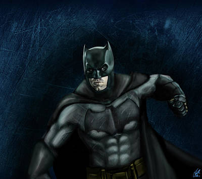 Ben Affleck Wall Art - Digital Art - The Batman by Vinny John Usuriello