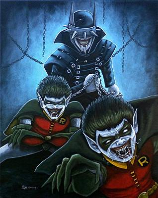 Painting - The Batman Who Laughs by Al  Molina