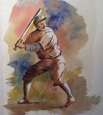 Painting - The Batter, 2017 by Jim Stovall