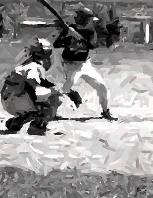 Digital Art - The Batter by Maria Watt