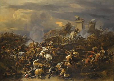 Painting - The Battle Between Alexander And Porus by Nicolaes Pietersz Berchem