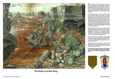 Painting - The Battle Of Ap Bau Bang by Bob  George