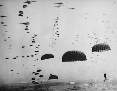 Paratrooper Photograph - The Battle Of Arnhem  Operation Market Garden by American School