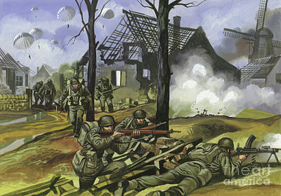 Painting - The Battle Of Arnhem, September 1944 by Ron Embleton