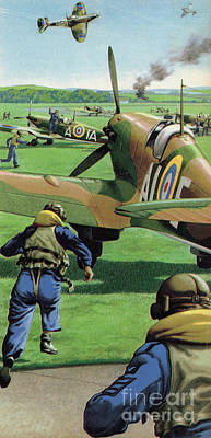 Airforce Painting - The Battle Of Britain by Pat Nicolle