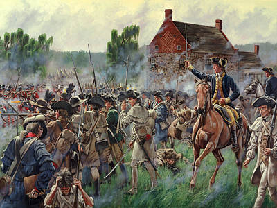 The Battle Of Brooklyn - Smallwood's Marylanders At The Old Stone House - Long Island  Original