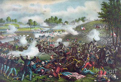 Civil Painting - The Battle Of Bull Run by American School