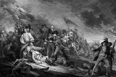 Patriot Hills Drawing - The Battle Of Bunker Hill by War Is Hell Store