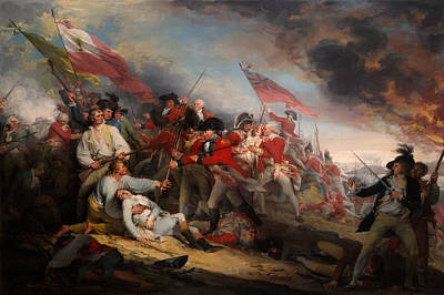 Redcoat Painting - The Battle Of Bunker's Hill by Mountain Dreams