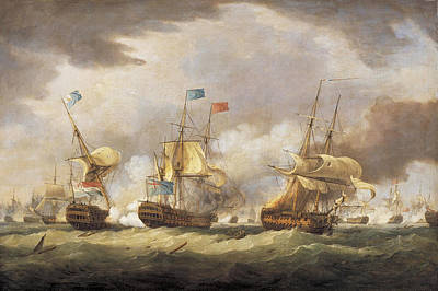 Painting - The Battle Of Camperdown by Thomas Whitcombe