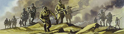 Painting - The Battle Of El Alamein,  1942 by Ron Embleton