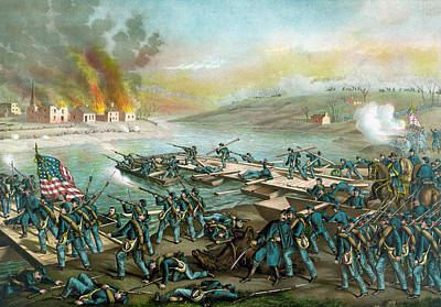 Civil Painting - The Battle Of Fredericksburg - Civil War by War Is Hell Store