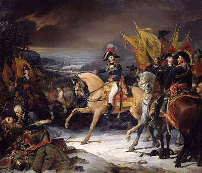 The Battle Of Hohenlinden Art Print by Henri Frederic Schopin