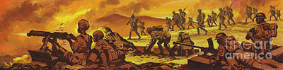 Painting - The Battle Of Keren by Ron Embleton