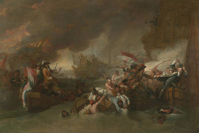 Painting - The Battle Of La Hogue by Benjamin West