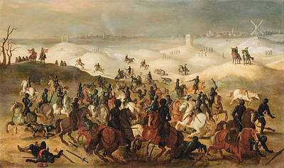 Painting - The Battle Of Lekkerbetje by Follower of Sebastian Vrancx