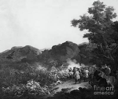 Black History Painting - The Battle Of Lens by Francesco Giuseppe Casanova