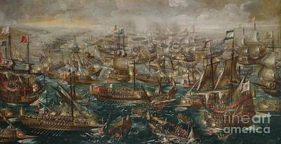 Very Painting - The Battle Of Lepanto Andries by MotionAge Designs