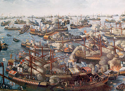 The Battle Of Lepanto, The Fleet Art Print by Everett