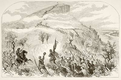 Lookout Mountain Drawing - The Battle Of Lookout Mountain by Vintage Design Pics