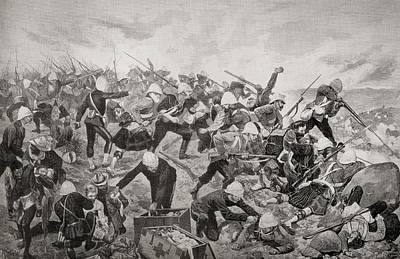 South Africa Drawing - The Battle Of Majuba Hill, Near by Vintage Design Pics