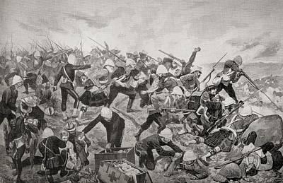 The Battle Of Majuba Hill, Near Art Print