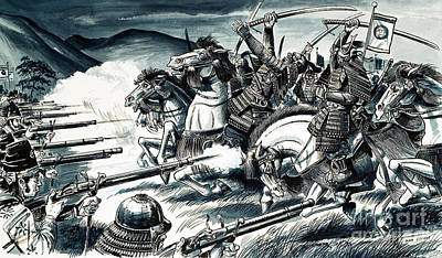 The Battle Of Nagashino In 1575 Art Print by Dan Escott