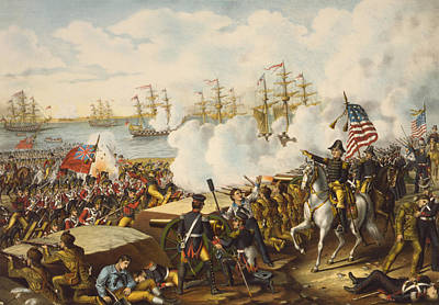 Final Drawing - The Battle Of New Orleans, January 8 by Vintage Design Pics