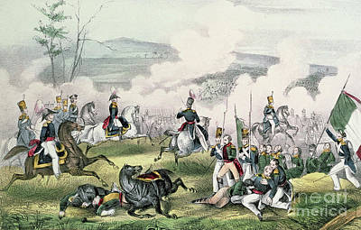 Painting - The Battle Of Palo Alto, California, 8th May 1846  by American School