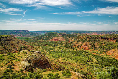 The Battle Of Palo Duro Canyon Print by Jon Burch Photography