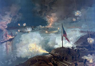 The Battle Of Port Hudson - Civil War Art Print by War Is Hell Store