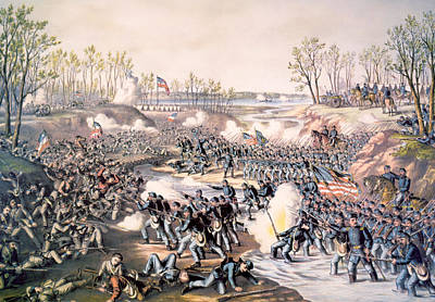 Rire Photograph - The Battle Of Shiloh, April 6-7, 1862 by Everett