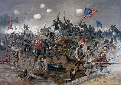Civil Painting - The Battle Of Spotsylvania Court House - Civil War by War Is Hell Store