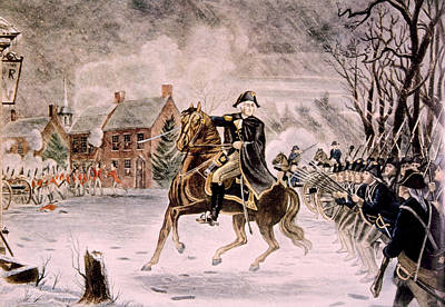 Battle Of Trenton Photograph - The Battle Of Trenton, General George by Everett