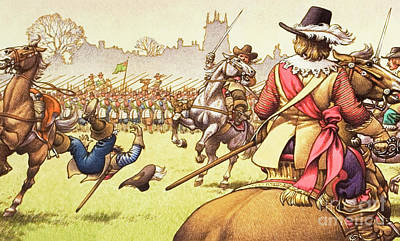 Civil Painting - The Battle Of Turnham Green by Pat Nicolle